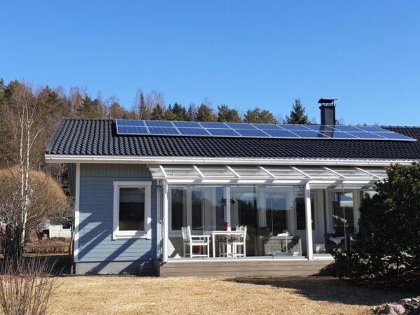 Aurinkosähköjärjestelmä 5.6kW Halikko